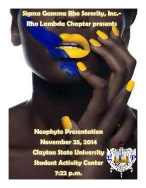 Meet the Newest Members of Rho Lambda (Clayton State) at the Fall 2014 Neophyte Presentation