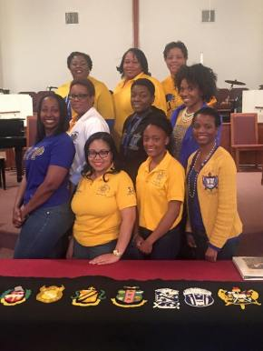 Zeta Alpha Sigma represents at Atlanta Divine Nine Forum