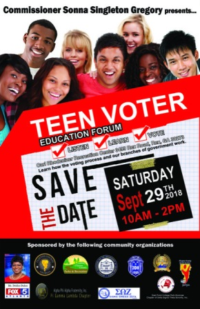 Come out to the Teen Voter Education Forum!