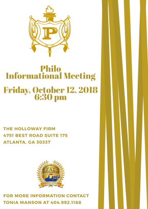 Philo Informational Meeting on Oct 12