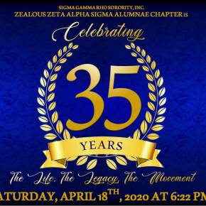 Let's Celebrate Zeta Alpha Sigma's 35th Chapter Anniversary!
